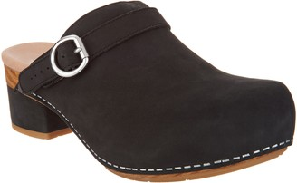 Dansko Nubuck Leathered Heeled Clogs - Marty