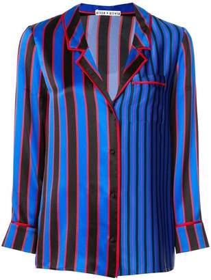 Alice + Olivia Alice+Olivia striped silk nightwear top
