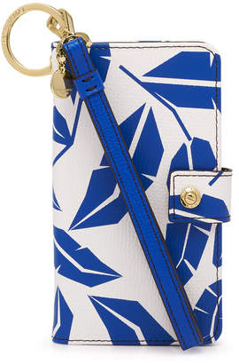 Henri Bendel Dalton Leaf Printed Wristlet For Iphone 7/8
