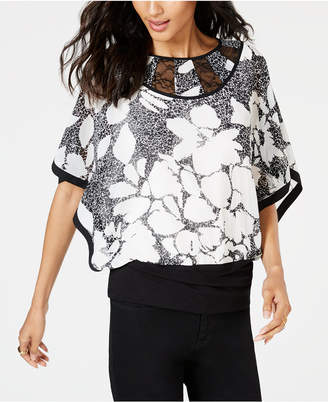 Thalia Sodi Printed Banded-Bottom Top