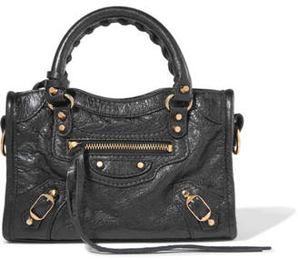 Balenciaga - Classic City Nano Texured-leather Shoulder Bag - Black $1,150 thestylecure.com