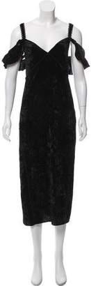 Rachel Zoe Lace-Up Velvet Dress w/ Tags