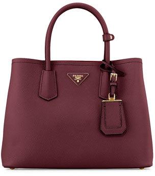 Prada Saffiano Medium East-West Tote Bag, Red (Granato) $2,780 thestylecure.com