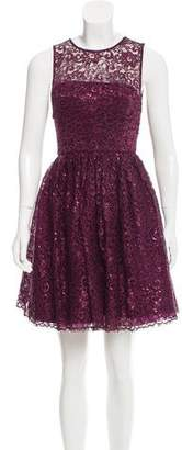 Alice + Olivia Lace A-Line Dress