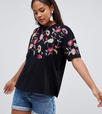 Asos Tall TALL T-Shirt with Embroidered Yoke