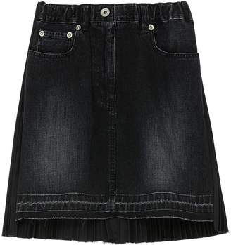 Sacai Pleated back kids denim skirt