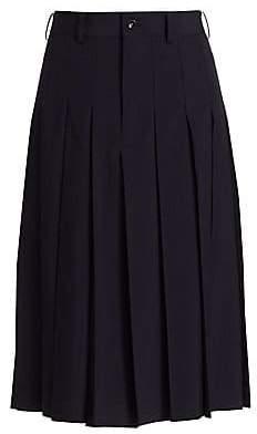 Comme des Garcons Women's Trop Pleated Wool Culottes
