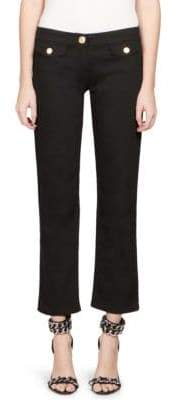 Balmain Cropped Stretch Denim Jeans