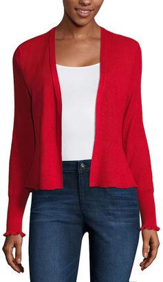 LIZ CLAIBORNE Liz Claiborne Long Sleeve Cardigan $48 thestylecure.com