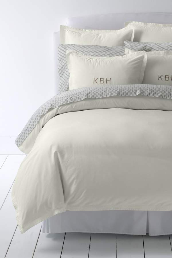Lands'end Garment Washed Sateen Solid Duvet Cover
