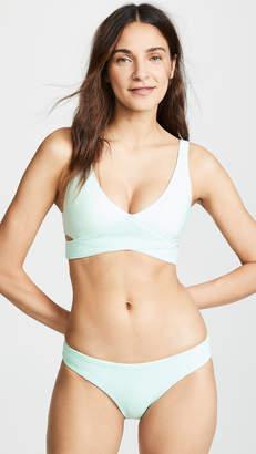 Pilyq Azura Smocked Crisscross Bikini Top