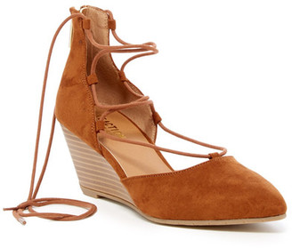 Kenneth Cole Reaction Stand Down Wedge Sandal $79 thestylecure.com