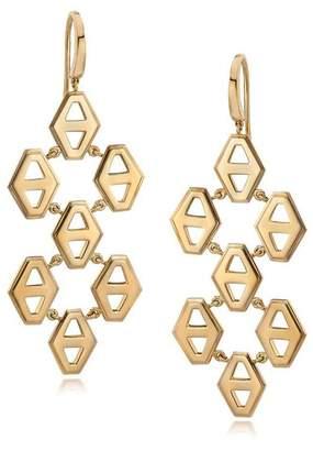Walters Faith Keynes 18K Seven Drop Signature Hexagon Earrings