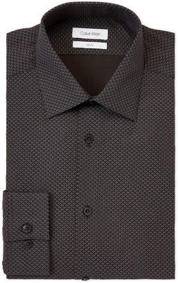 Calvin Klein Black Dot Slim Fit Dress Shirt