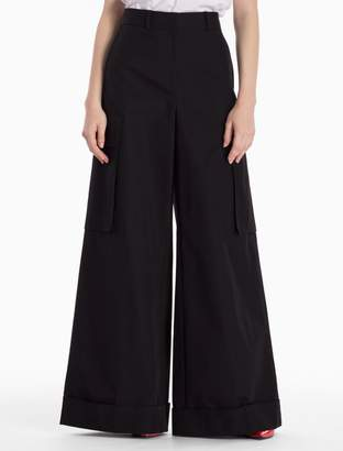 Calvin Klein cotton woven extra wide leg cargo pants