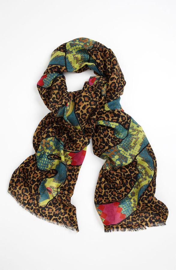Yarnz 'Leopard Snakes' Cashmere & Silk Scarf