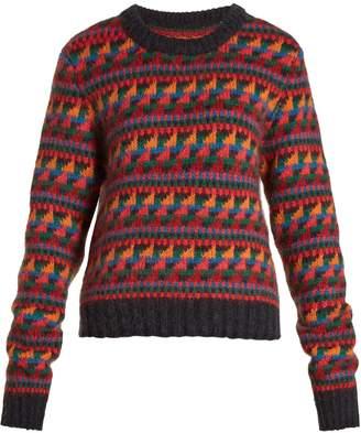 Burberry Geometric-intarsia- wool-blend sweater