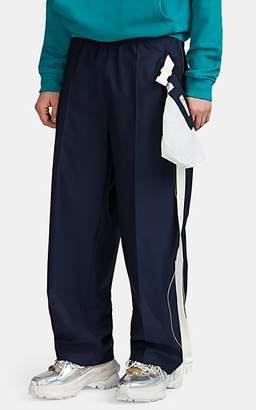 Maison Margiela Men's Belt-Bag Wool Zip-Side Trousers - Navy
