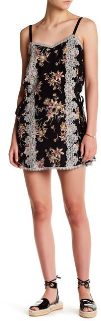 Anna SuiAnna Sui Wildflower Print Crepe De Chines Sleeveless Silk Dress