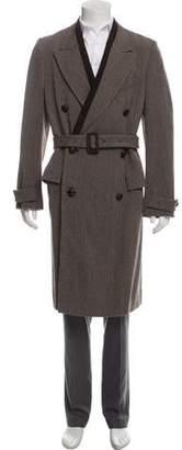 Alexander McQueen Virgin Wool Double-Breasted Overcoat