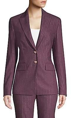 Escada Women's Metallic Pinstripe Jacket