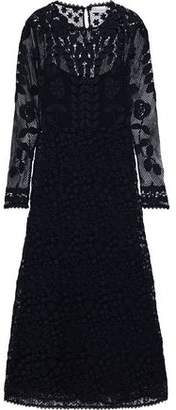 RED Valentino Cotton Guipure Lace Midi Dress