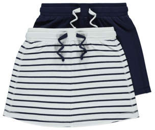 George Jersey Skirts Nautical Assorted 2 Pack