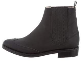 Opening Ceremony Rubber Round-Toe Ankle Boots