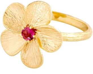 ADI Paz 0.10 ct Pink Tourmaline Flower Ring 14K Gold
