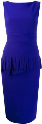 Chiara Boni Le Petite Robe Di fringed detail fitted dress