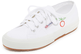 Superga Sweet As Cherries Embroidered Classic Sneakers $129 thestylecure.com