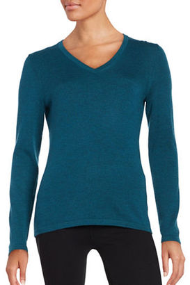 Lord & Taylor Merino Wool V-Neck Sweater $49.95 thestylecure.com