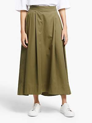 KIN Cotton Twill Cocoon Skirt, Green