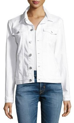 Hudson The Classic Denim Jacket, White $205 thestylecure.com