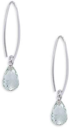 Saks Fifth Avenue Women's Prasiolite and Sterling Silver Simple Sweep Drop Earrings