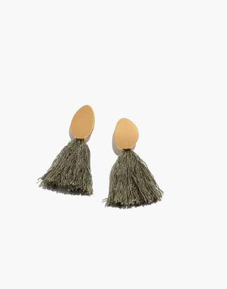 Madewell Tassel Statement Earrings