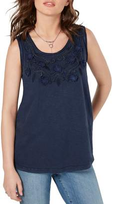 Style&Co. Style & Co. Floral-Embroidered Cotton Top