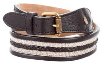 Proenza Schouler Leather Buckle Belt Black Leather Buckle Belt