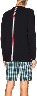 Thom Browne Pique Classic Long Sleeve Tee