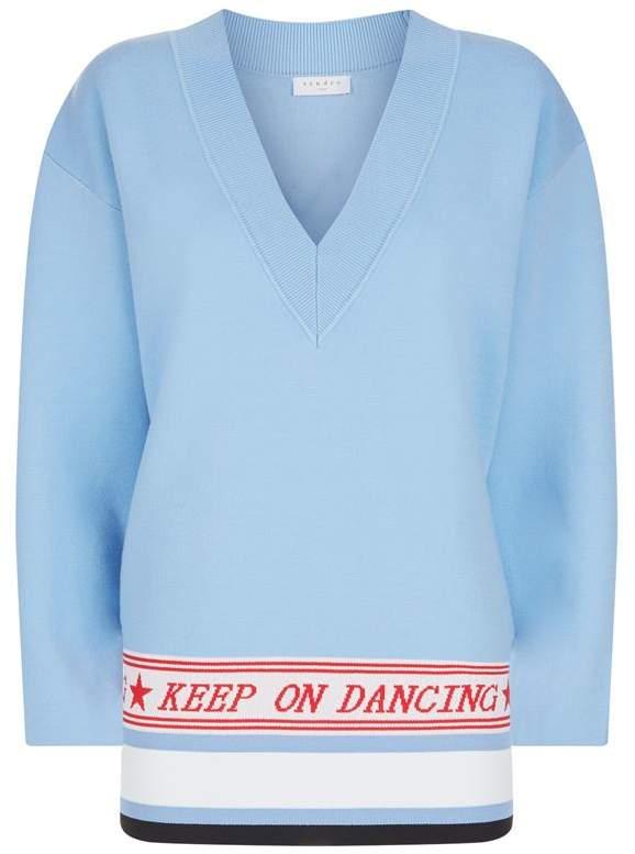 Keep On Dancing Slogan Sweater