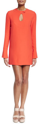 Derek Lam Long-Sleeve Cady Mini Dress, Safety Orange $1,595 thestylecure.com