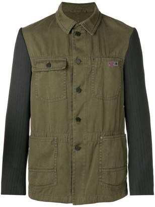 Lanvin contrast fitted jacket