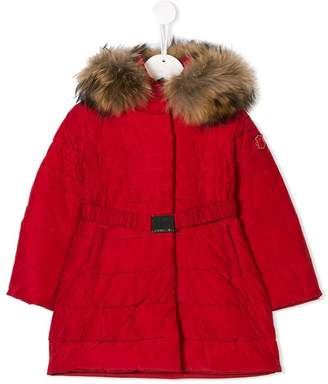 MonnaLisa hooded belted padded coat