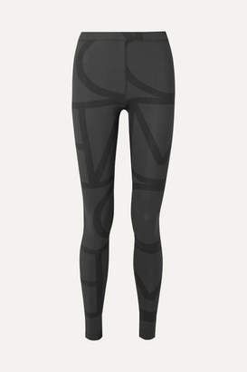 Totême Leon Printed Stretch-jersey Leggings - Charcoal