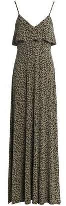 MICHAEL Michael Kors Ruffled Printed Stretch-Jersey Maxi Dress
