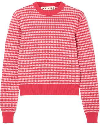 Marni Crocheted Cotton Sweater - Pink