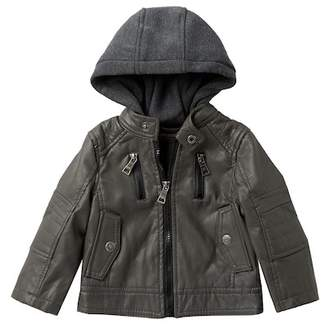 Urban Republic Faux Leather Jacket (Baby Boys)