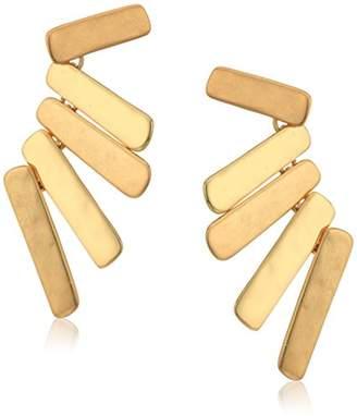 Robert Lee Morris Chevron Silver Linear Stick Chandelier Stud Earrings