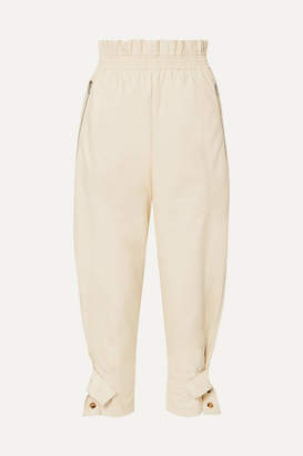 3e9f94879322b Frankie Shop - Xenia Faux-leather Tapered Pants - Cream