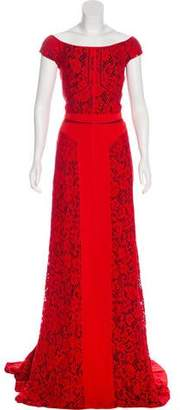 J. Mendel Sleeveless Maxi Gown